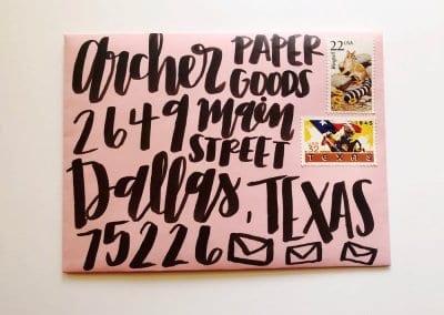 Archer Paper Goods run Thinking of You Week workshop!