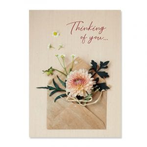 All full color cards are lovingly designed inside and out and come with a matching envelope.