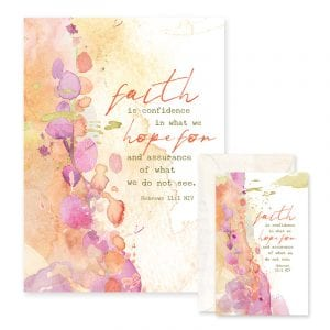 These greeting cards are printed on rich embossed paper and include a Share-It card in a vellum envelope inside!