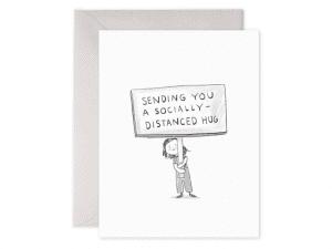 Social distancing hug...